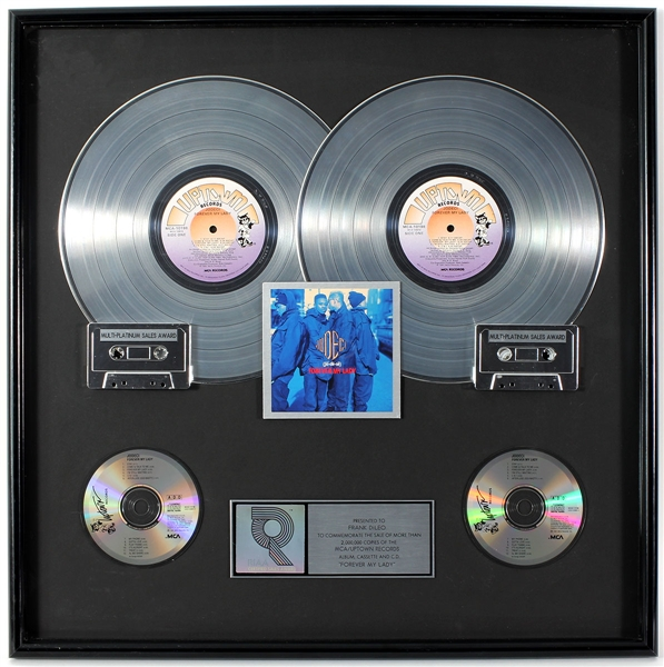 "Jodeci ""Forever My Lady"" Original RIAA Multi-Platinum Record Album, Cassette and C.D. Award Display Presented to Frank DiLeo"