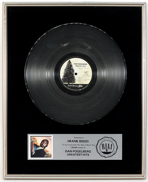 "Dan Fogelberg ""Greatest Hits"" Original RIAA Platinum Record Album Award"
