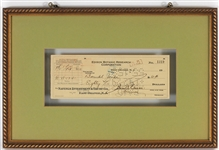 Thomas Edison Signed Check