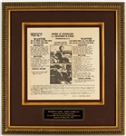 Bonnie Parker and Clyde Barrow Original 1934 Department of Justice Wanted Poster