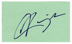 Aaliyah Signed Index Card 2000 MTV Video Music Awards