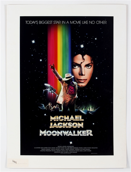 "Michael Jackson Original ""Moonwalker"" Final Prototype Poster Owned by Manager Frank DiLeo"