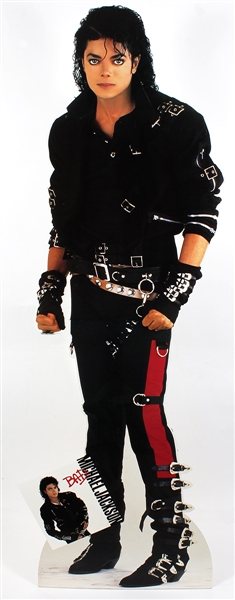 "Michael Jackson Original Life-Size ""Bad"" Promotional Cardboard Standee Display Owned by Manager Frank DiLeo"