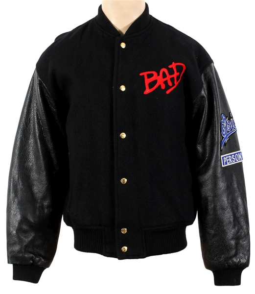 "Michael Jackson ""Bad"" Black Promotional Jacket with Red and Gold Embroidery Owned by Manager Frank DiLeo"
