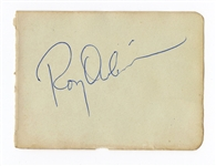 Roy Orbison Signed Album Page