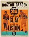 1965 Muhammad Ali vs Sonny Liston II Original On-Site Boston Garden Poster