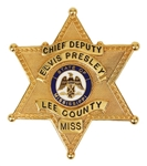 Elvis Presley Owned & Worn Lee County Chief Deputy Badge