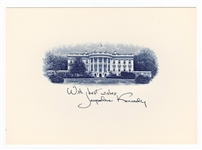 First Lady Jacqueline Kennedy Official White House Card
