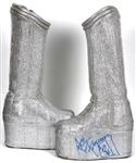 KISS Ace Frehley Signed Custom Space Stage Boots