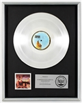 "Pink Floyd ""Animals"" Original RIAA Platinum LP Record Award"