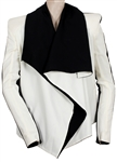 "Lady Gaga 2009 German TV Show ""Poker Face"" Performance Worn Black and White Jacket"