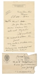 Harry Houdini 1920 Handwritten and Signed Letter and Envelope