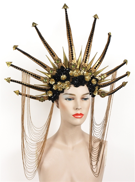 "Nicki Minaj ""Hard White"" Music Video Worn Custom Elaborate Spiked Headpiece"