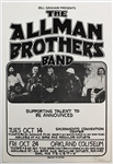 The Allman Brothers Band Original Concert Poster Signed by Artist