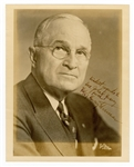 Harry S. Truman Signed & Inscribed Photograph Beckett LOA