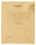 William H. Taft Supreme Court Justice Signed Letter Beckett LOA