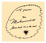 Muhammad Ali Signed Inscription and Drawing Beckett LOA