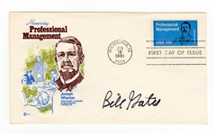 Bill Gates Signed First Day Cover JSA LOA