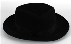 Michael Jackson Circa 1988 Owned and Worn Worth & Worth Custom Black Fedora