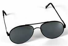 Michael Jackson Owned & Worn Black Aviator Sunglasses