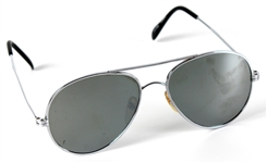Michael Jackson Owned & Worn Silver Aviator Sunglasses