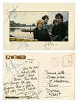 U2 The Edge Handwritten Postcard Signed by Entire Group