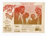 The Grateful Dead and Country Joe Rare 1968 Original Shrine Hall Concert Handbill