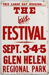 Grateful Dead, Talking Heads, Police Original US Festival Concert Poster