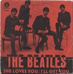 "Beatles ""She Loves You"" 45 Record Sleeve Signed by All Four"
