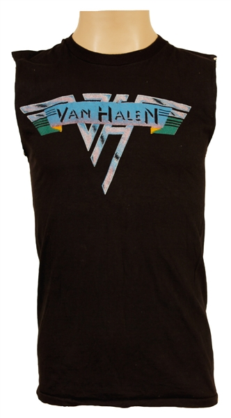 "Alex Van Halen 1978 ""Sparklers"" Lynn Goldsmith Photo Shoot Worn Van Halen Black T-Shirt"