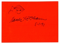 "Hank Ketcham Signed ""Dennis The Menace"" Sketch Beckett COA"
