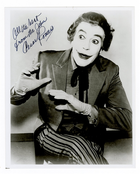 Original Joker Cesar Romero Signed Photograph Beckett COA