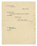 Woodrow Wilson Signed White House Letter Beckett LOA