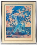 LeRoy Neiman Signed Steve Garvey (Los Angeles Dodgers) Large Lithograph JSA LOA