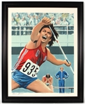 Bruce Jenner Signed Olympic Decathlon Limited Edition Lithograph