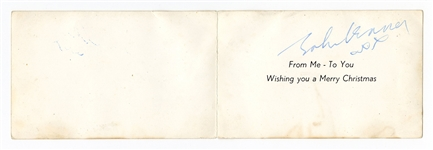John Lennon Signed Beatles Christmas Card Authenticated by Frank Caiazzo