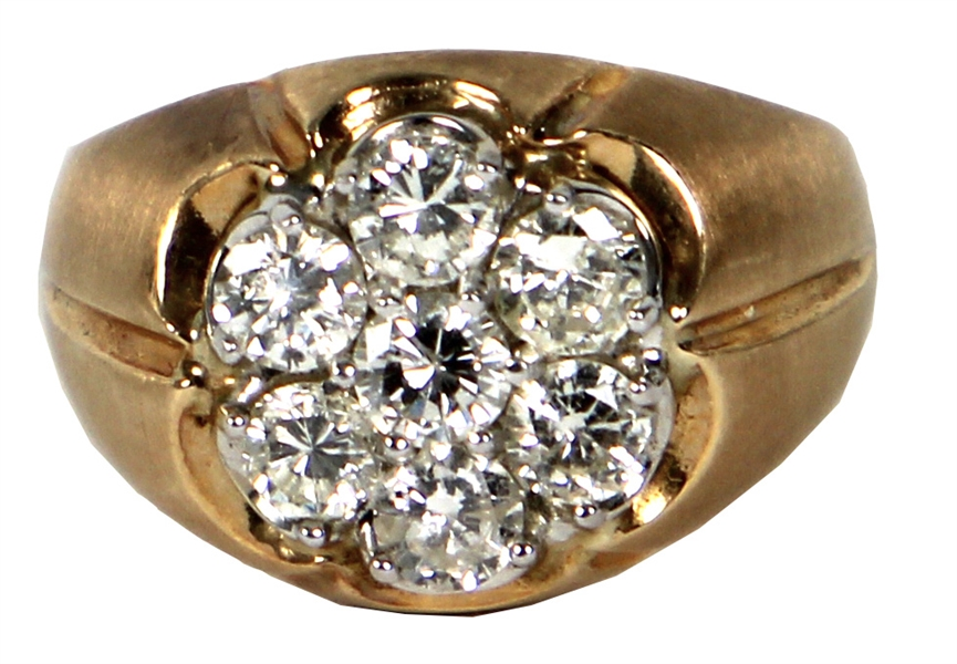 Elvis Presley Owned and Worn 5ct Diamond and 14kt Gold Ring