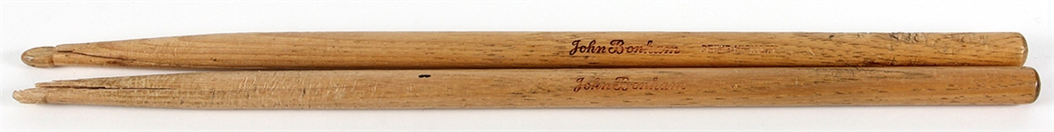 "John Bonham Stage Used & ""Presence"" Studio Used Custom Drum Sticks"