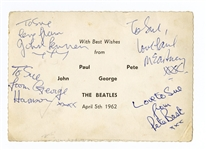 The Beatles Fully Signed Postcard with Pete Best Frank Caiazzo Authenticated