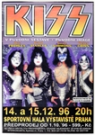 KISS Reunion Tour Czech Republic 1996 Concert Poster Signed by Gene Simmons and Peter Criss