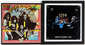 "KISS Band Signed ""Hotter Than Hell"" Rare Japanese Album"