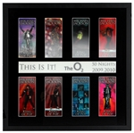 "Michael Jackson Unreleased ""This Is It!"" Tour Beautifully Framed Holographic Concert Tickets"