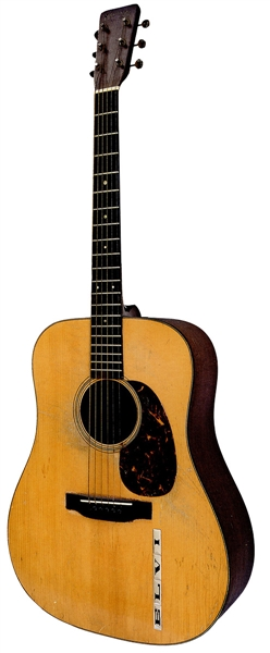 Elvis Presley Owned and Stage Played 1942 Martin D-18 Sun Sessions Guitar - The Most Important Elvis Guitar To Come to Auction