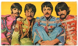 "Beatles ""Sgt. Peppers Lonely Hearts Club Band"" Original EMI Promotional Album Poster"