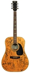 Incredible Multi-Signed Guitar with Jerry Garcia, David Bowie, Johnny Cash & More JSA LOA