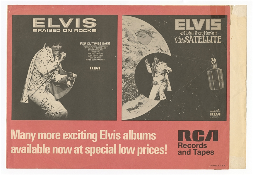 Elvis Presley Raised on Rock RCA Records and Tapes