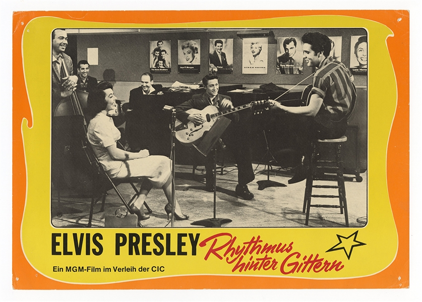 "Elvis Presley Original Rhythmus Hinter Gittern ""Jailhouse Rock"" Lobby Cards"