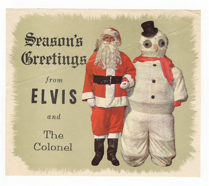 "Elvis Presley Original ""Seasons Greetings From Elvis and The Colonel"" Card"