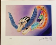 "Beatles ""Mr. Kite"" Original Artists Proof Artwork for ""The Beatles Illustrated Lyrics"" Book Signed By Alan Aldridge"