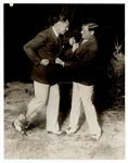 Babe Ruth and Jack Dempsey Original Wire Stamped Photograph